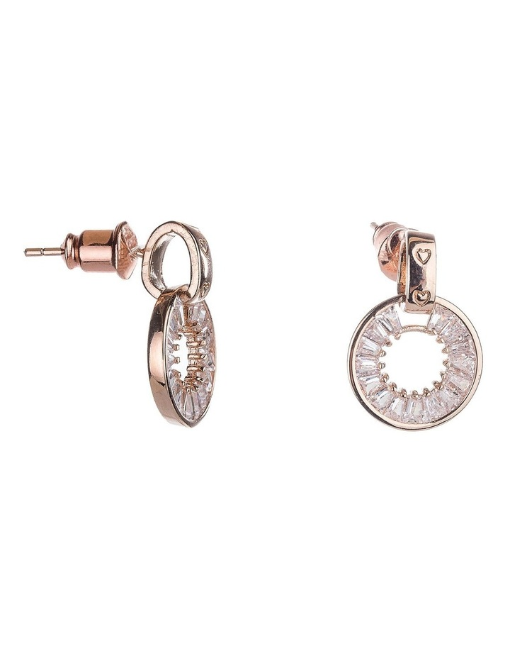 Round Glass Crystal Earrings image 2