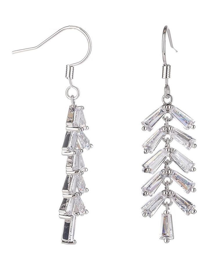 Long CZ Tassel Drop Earrings image 2