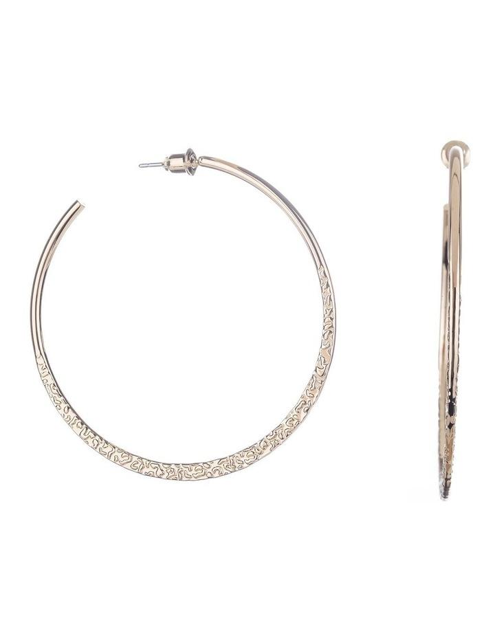 Textured Hoop Earrings image 2