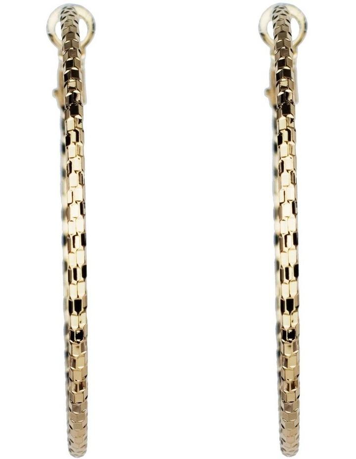 Textured Hoop Earrings image 1