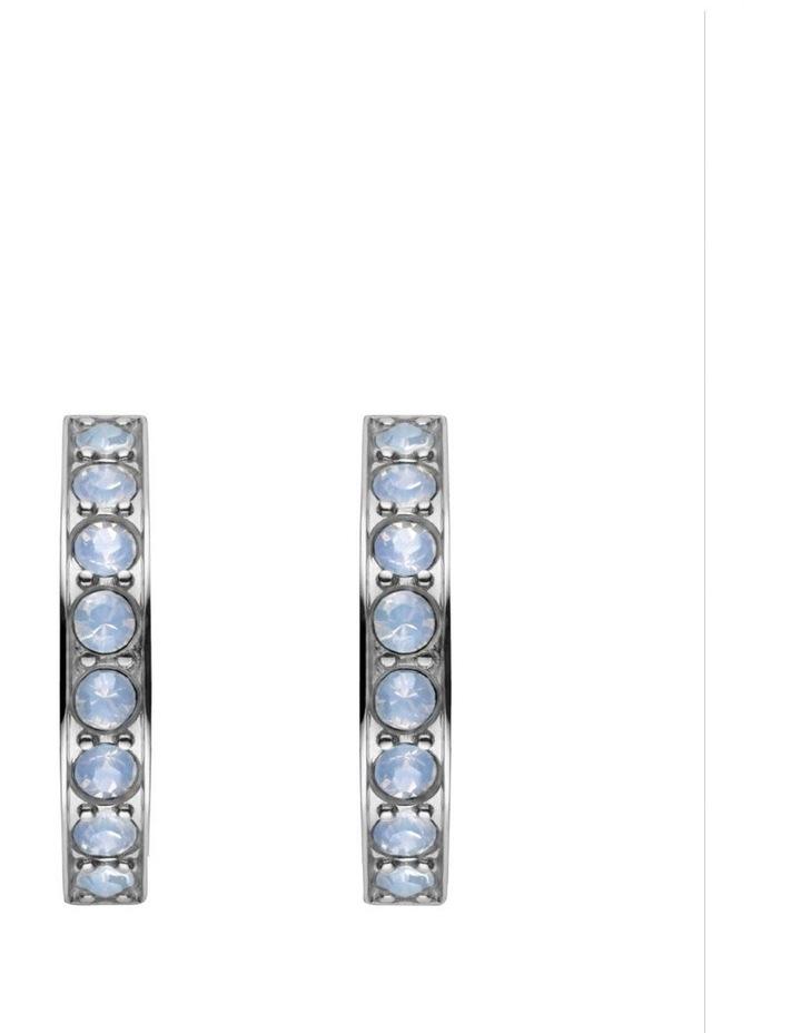 JSHSCS-J250 Raye Small Crystal Huggie - Silver image 2