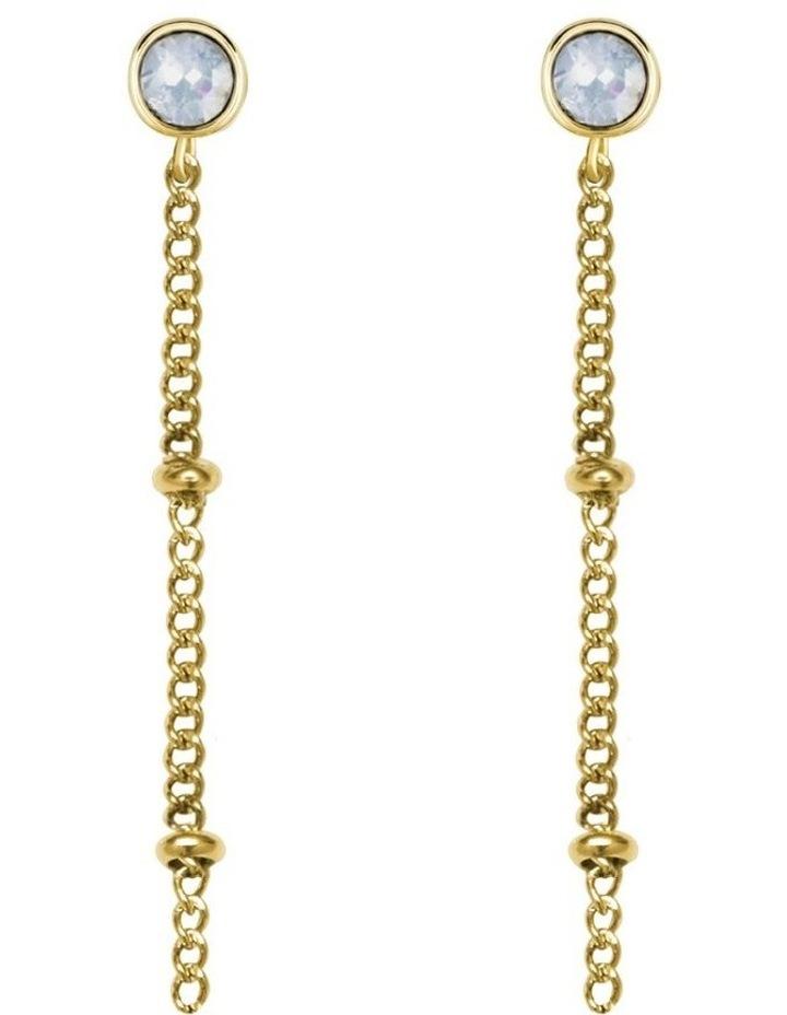 JCSSCG-J255 Raye Chain Crystal Stud - Gold image 2