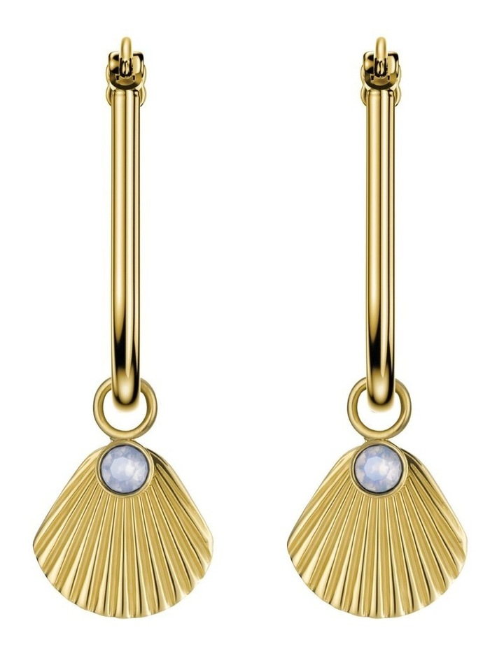 JPHSCG-J258 Raye Shell & Crystal Drop Ear - Gold image 2