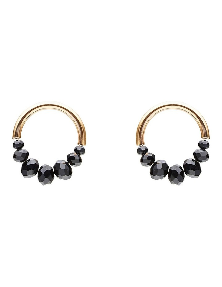 Facet Bead & Gold Earring image 1