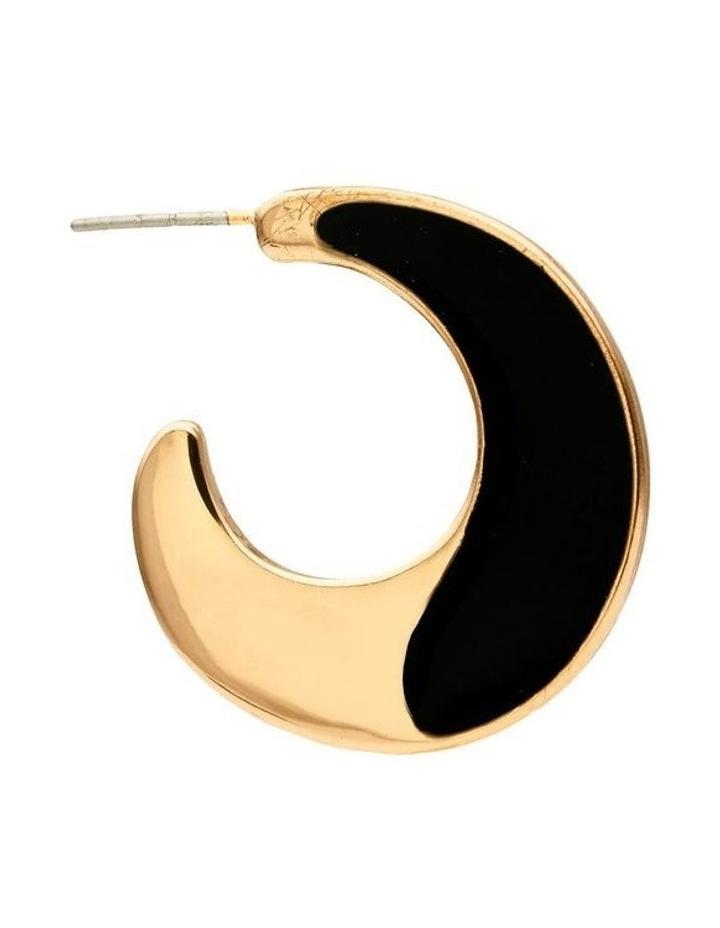 Enamel Hoop Earrings image 2