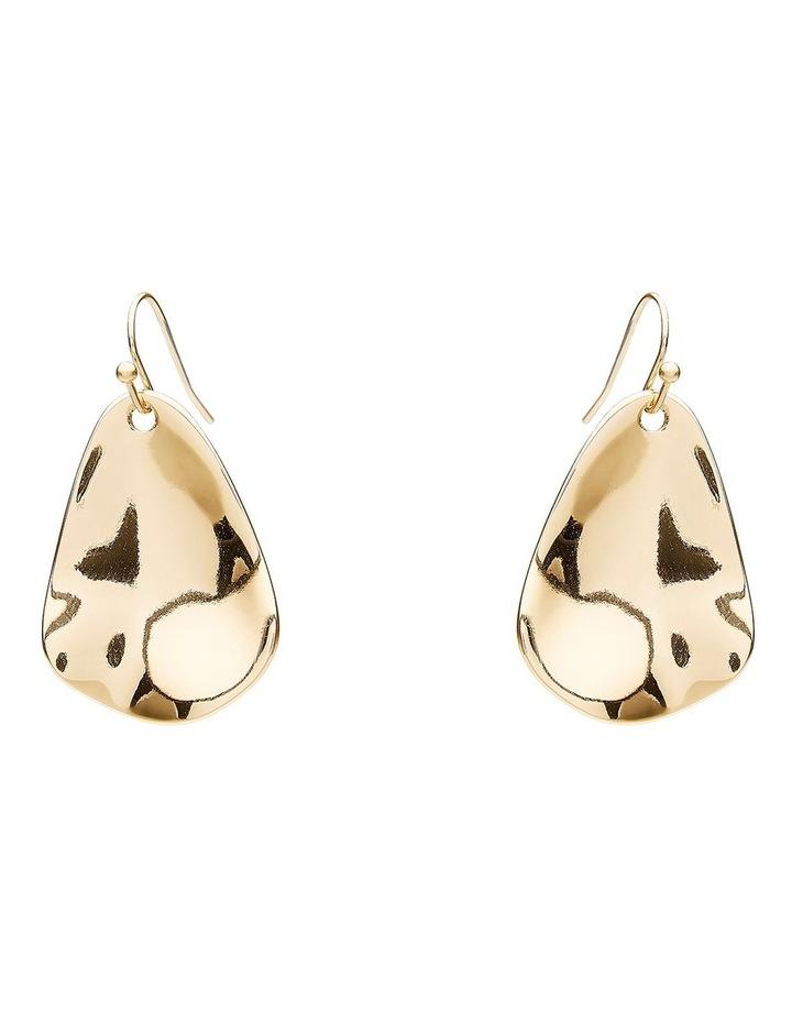 Metallic Beaten Earring image 1