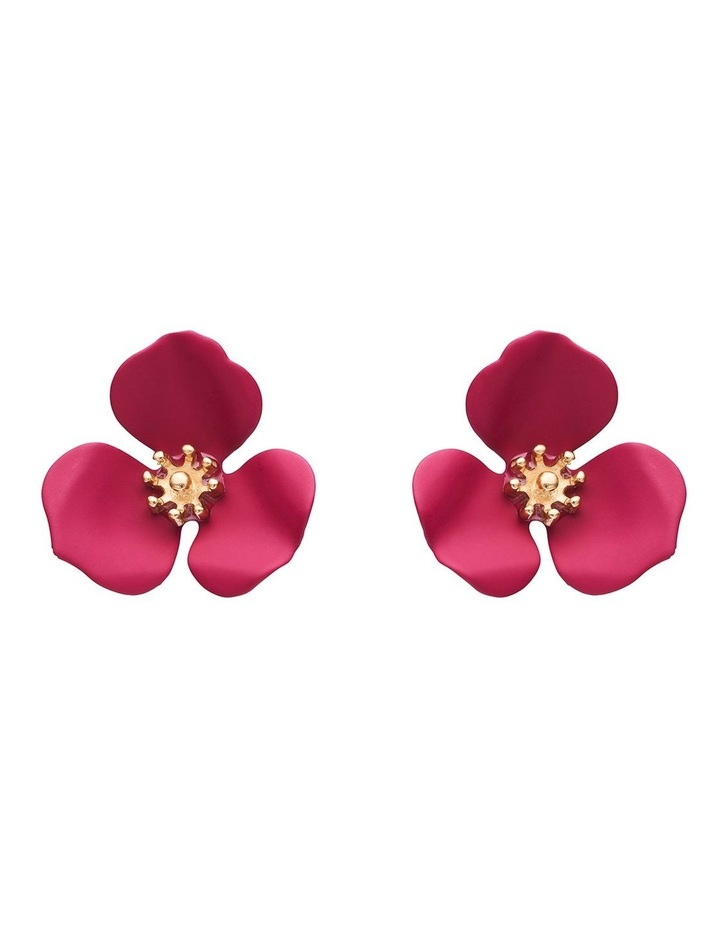 Floral Stud Earrings image 1