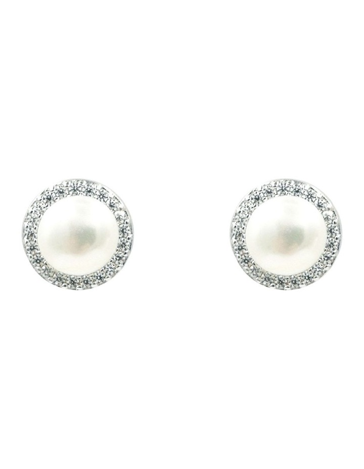 Brilliant Halo Pearl Earrings image 1