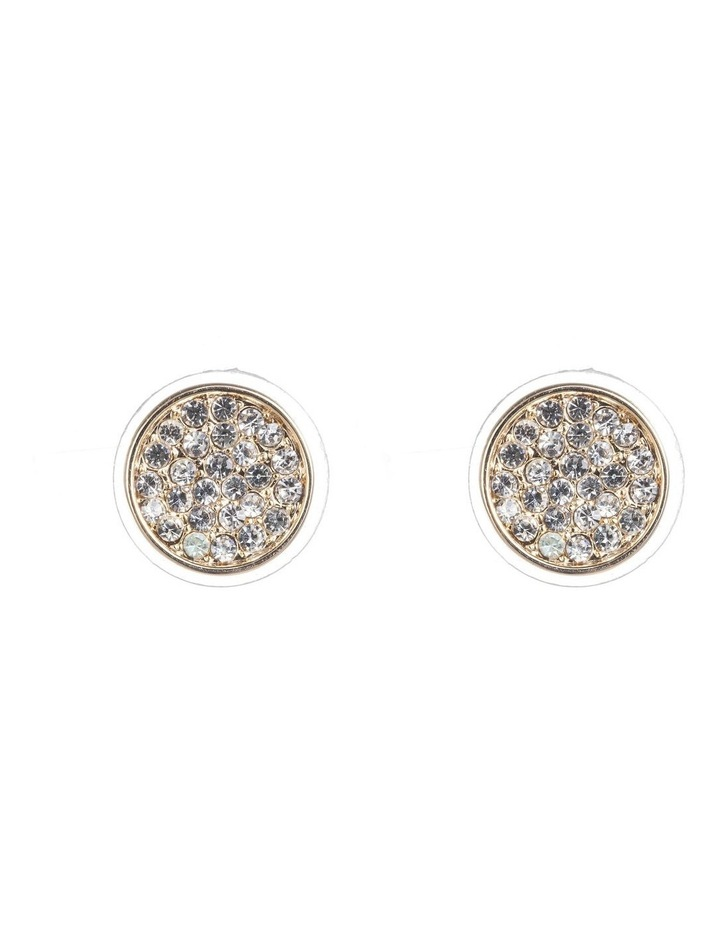 Round Cz Disc Earrings image 1