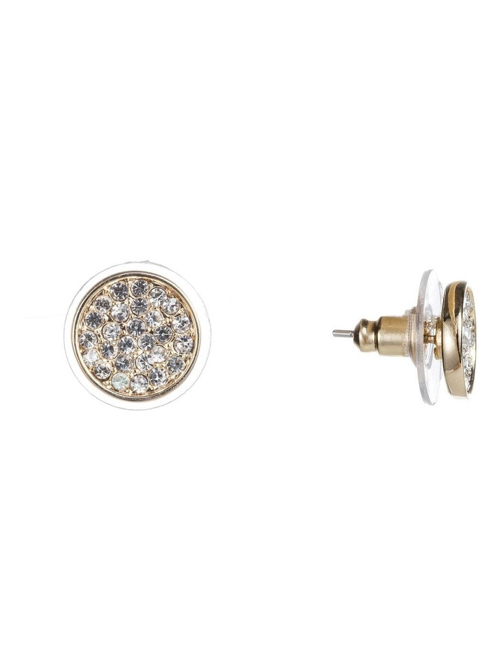 Round Cz Disc Earrings image 2