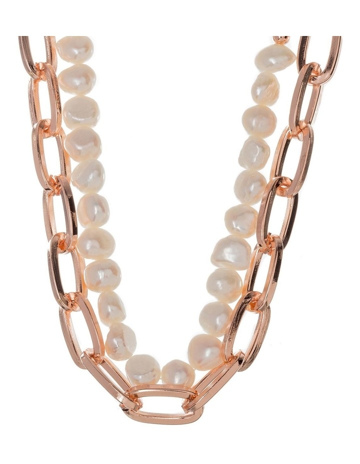 Double Chain Necklce With Freshwater Pearls image 2