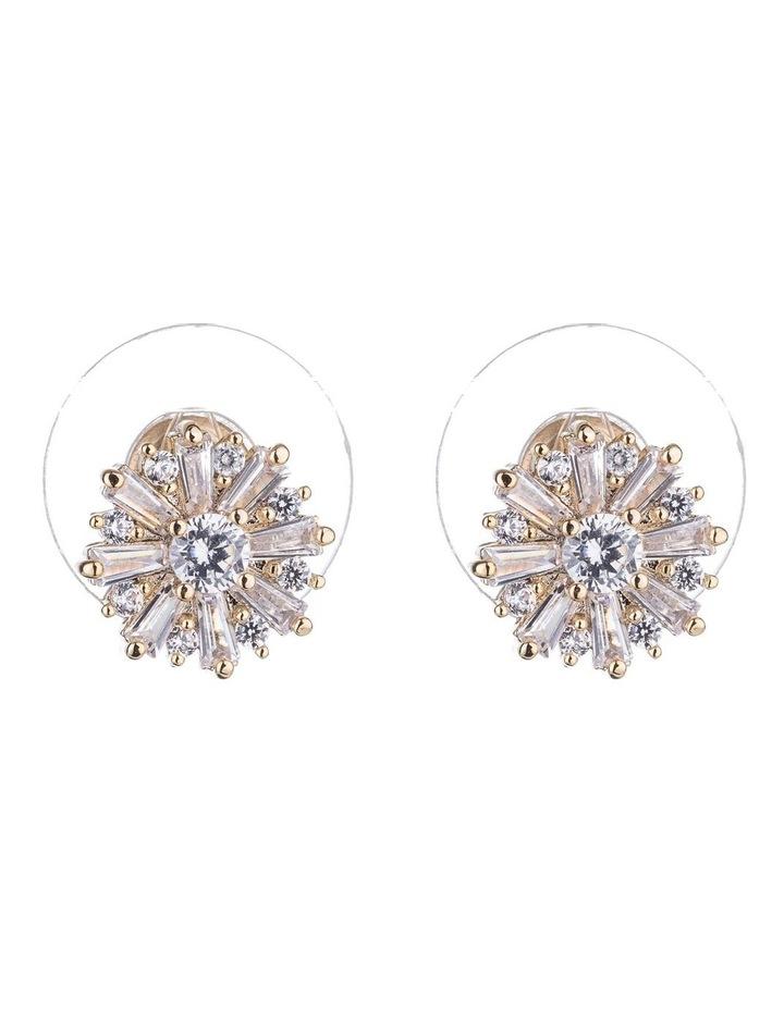 Starburst Cz Earrings image 1