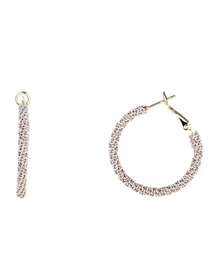 Large Woven Metal Hoop Earrings image 2