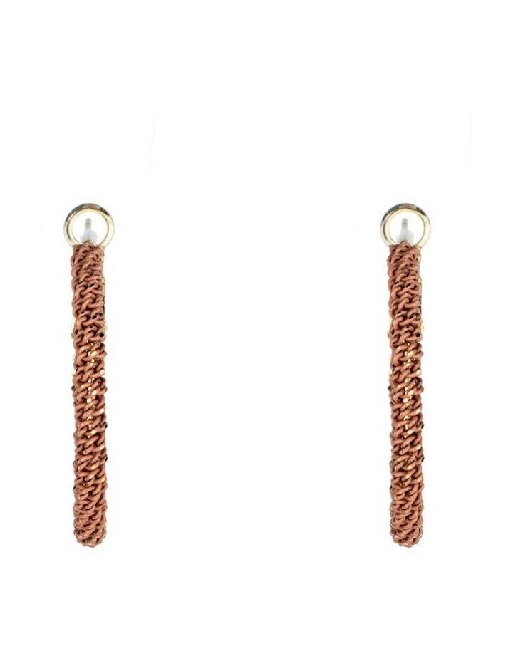 Large Woven Metal Hoop Earrings image 1
