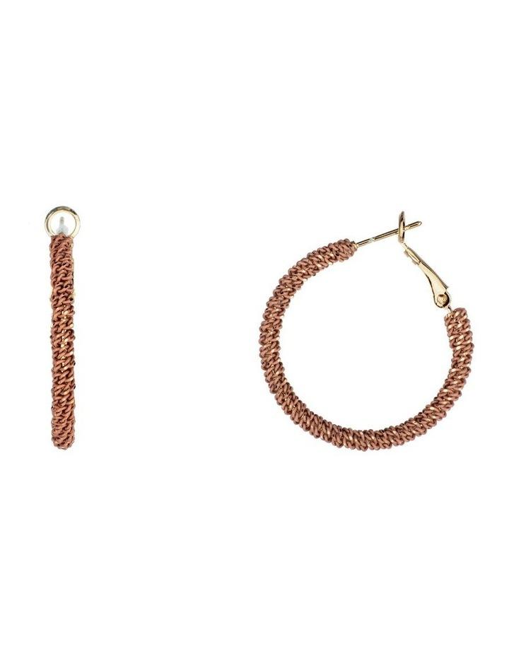 Large Woven Metal Hoop Earrings image 2