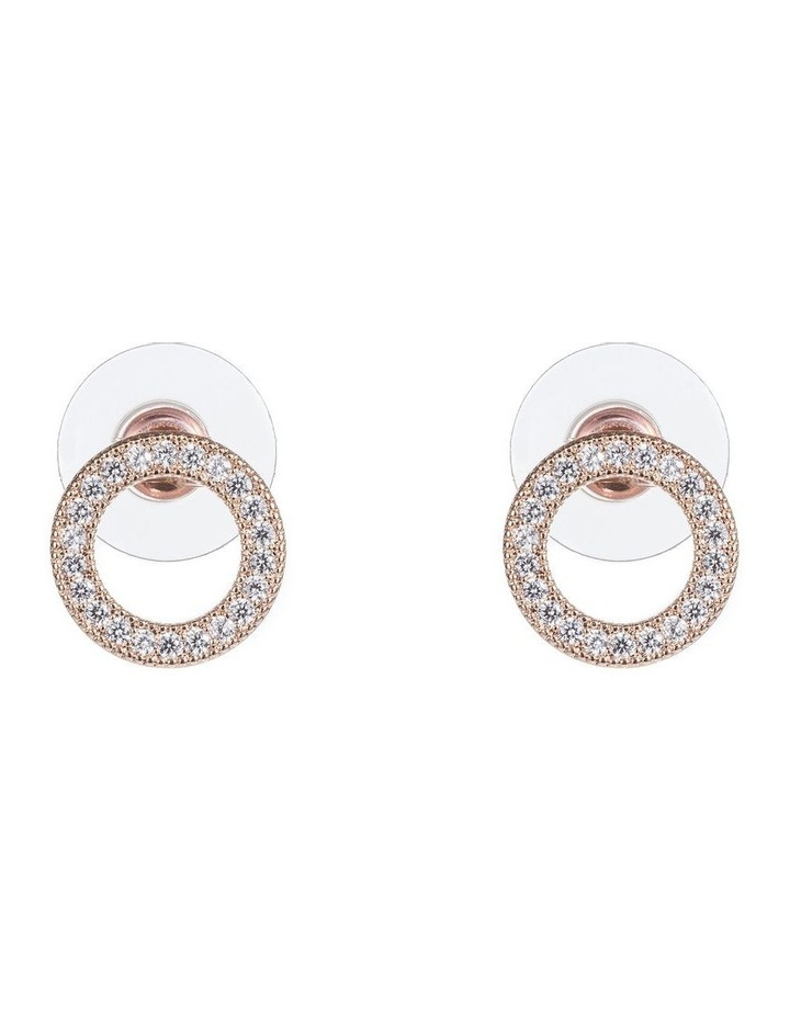 Cz Circle Earrings image 1