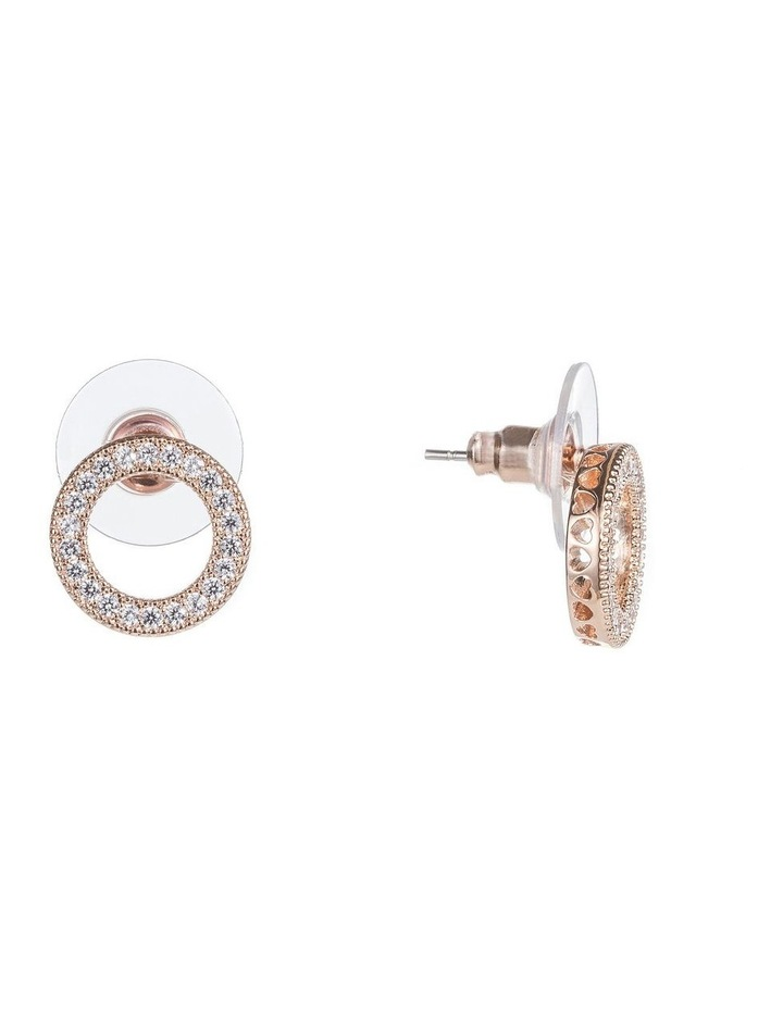 Cz Circle Earrings image 2