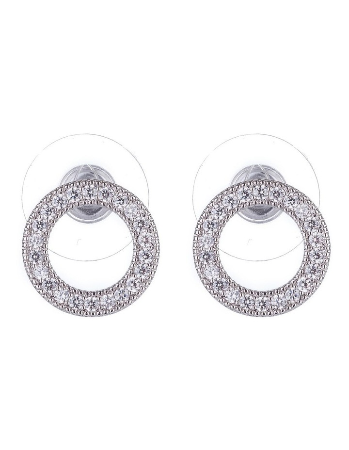 Cz Circle Earrings image 1