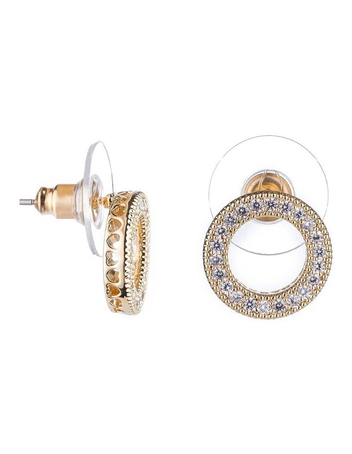 Cz Circle Earrings image 2