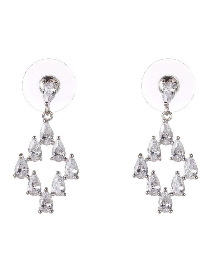 Art Deco Drop CZ Earrings image 1