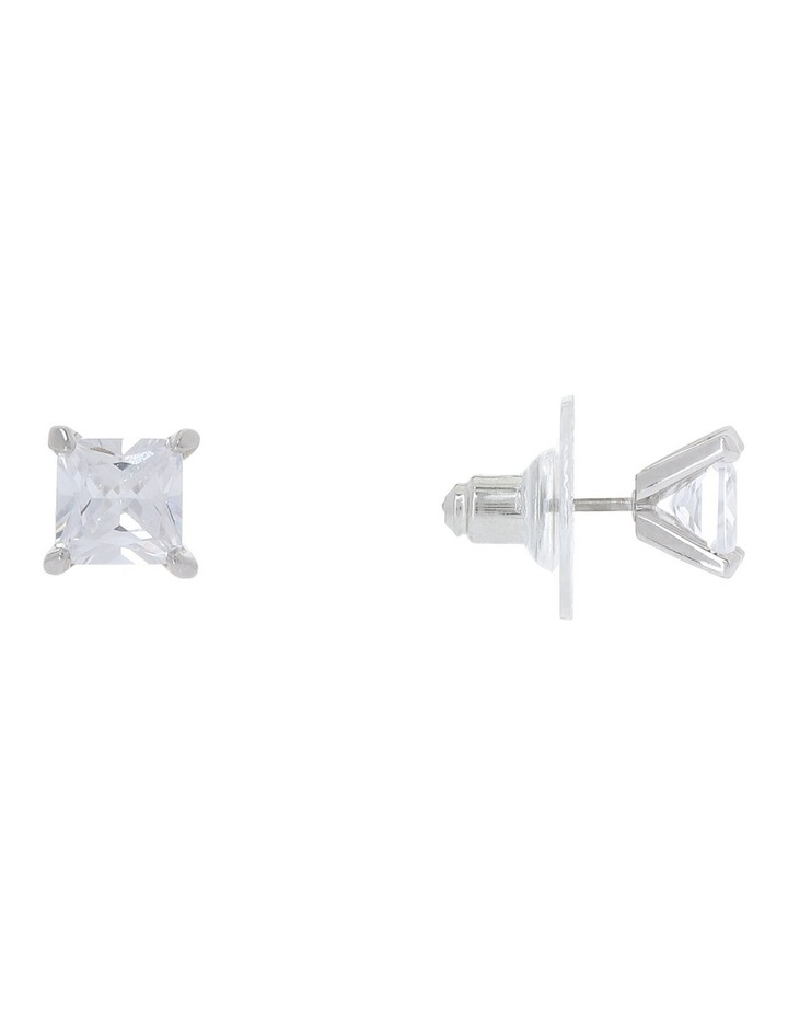 6mm Cubic Zirconia Square Stud Earring image 4