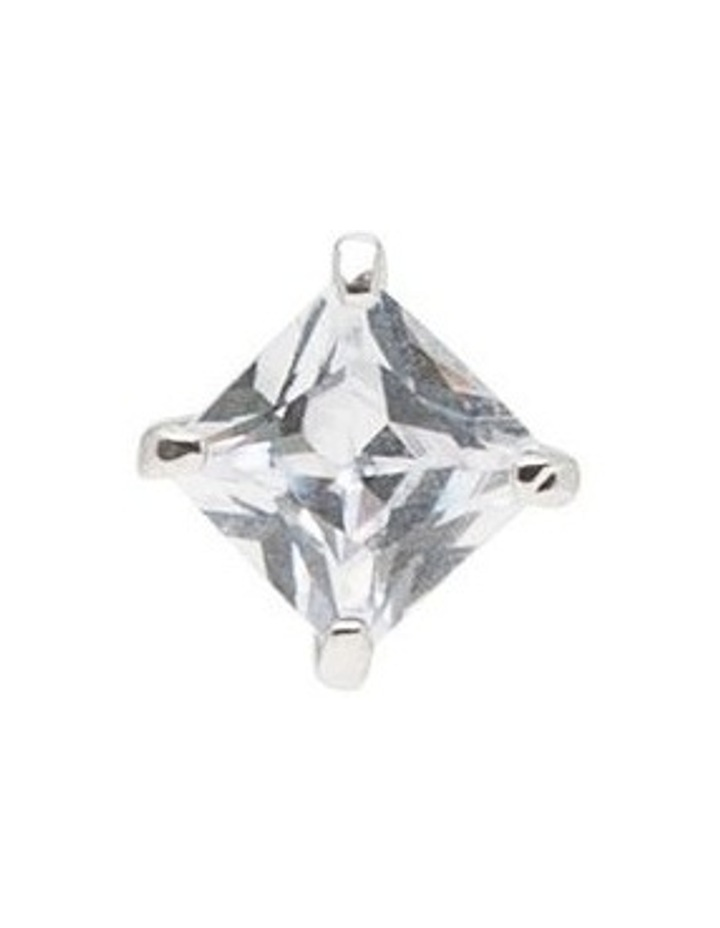 6mm Cubic Zirconia Square Stud Earring image 5