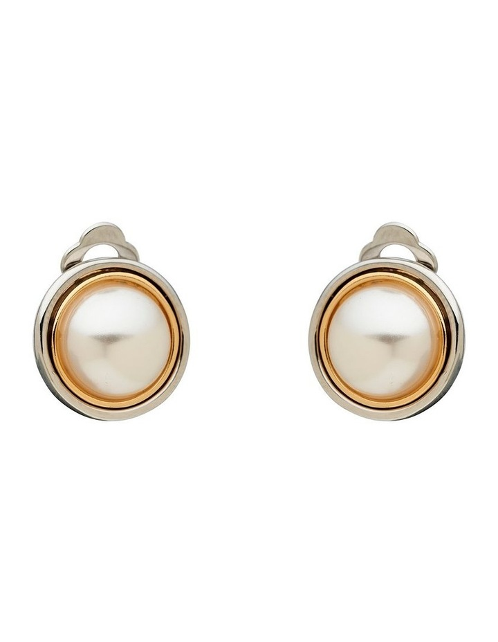 Double Outer Ring & Pearl Stud image 1