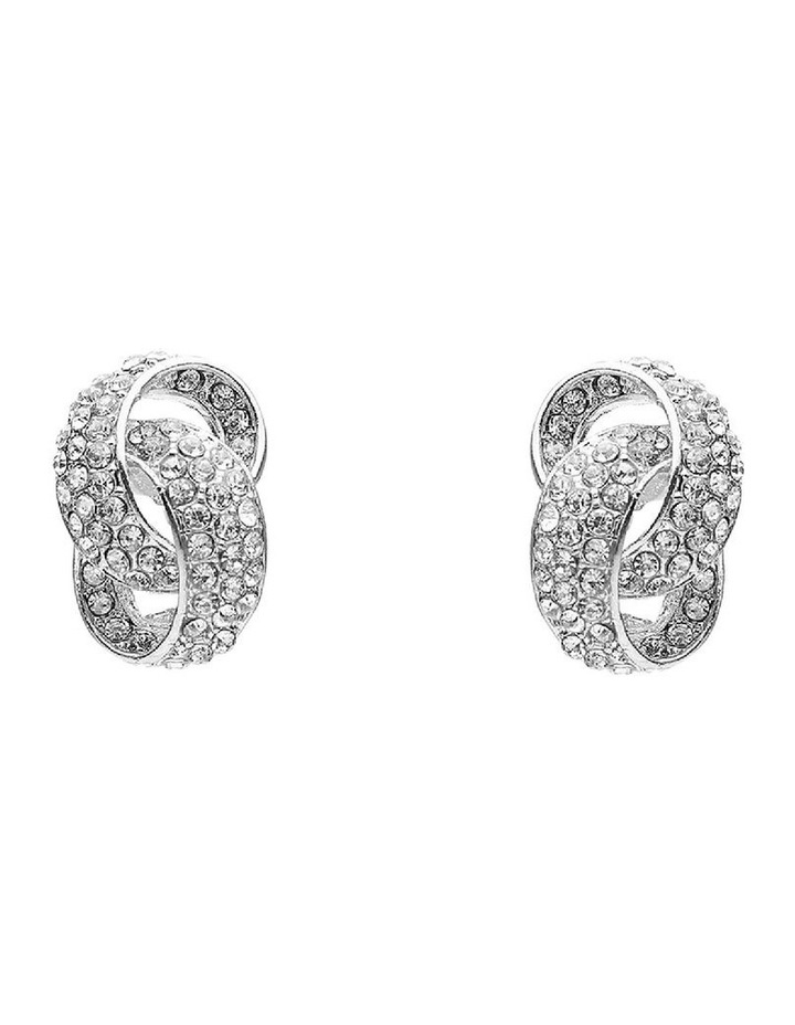Interlock Crystal Stone Earring image 1
