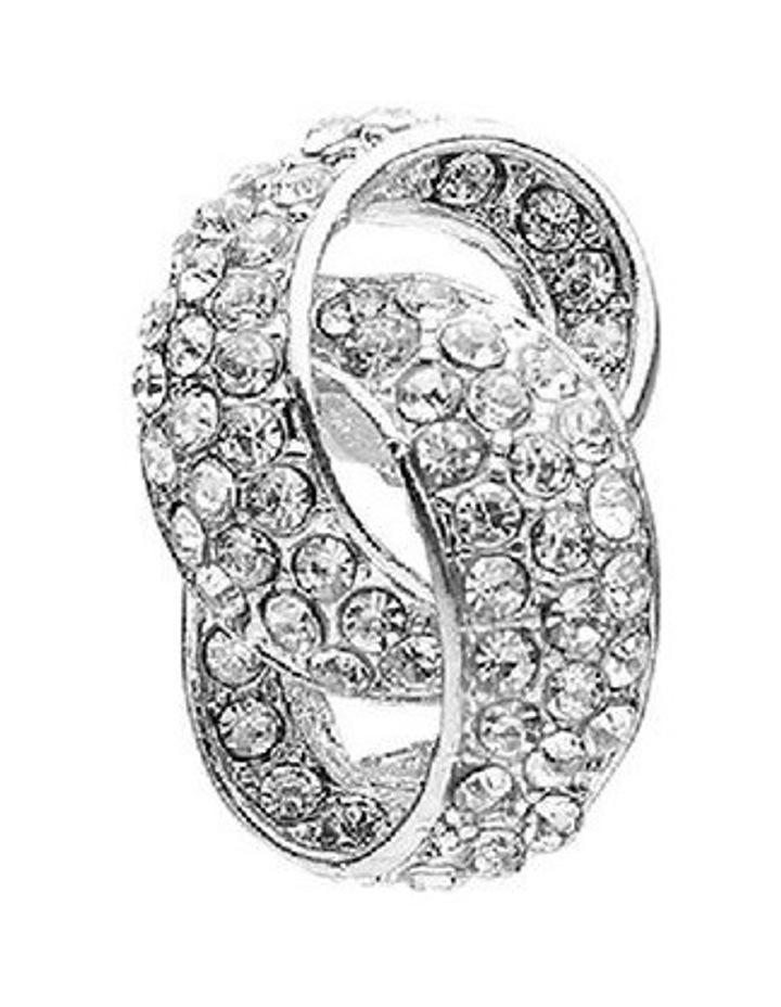 Interlock Crystal Stone Earring image 3