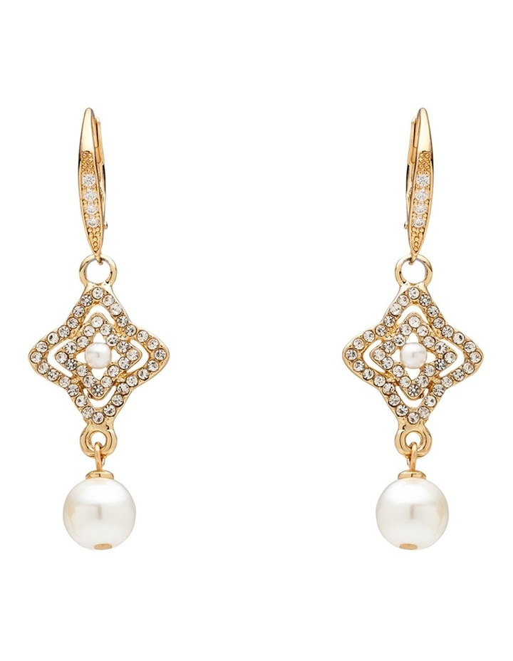 PEARL PAVE CELEBRATION EARRING image 1