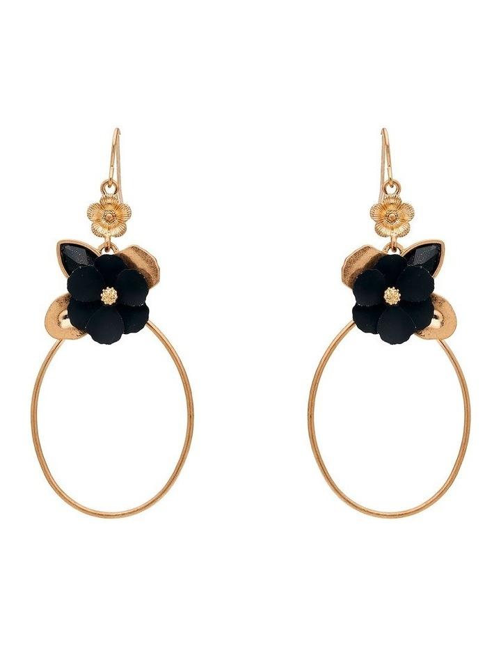 Flower Ring Drop Earring image 1