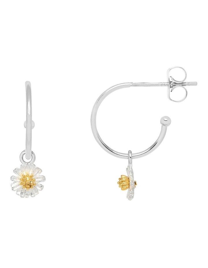 Mini Wildflower Hoop Drop Earrings image 1