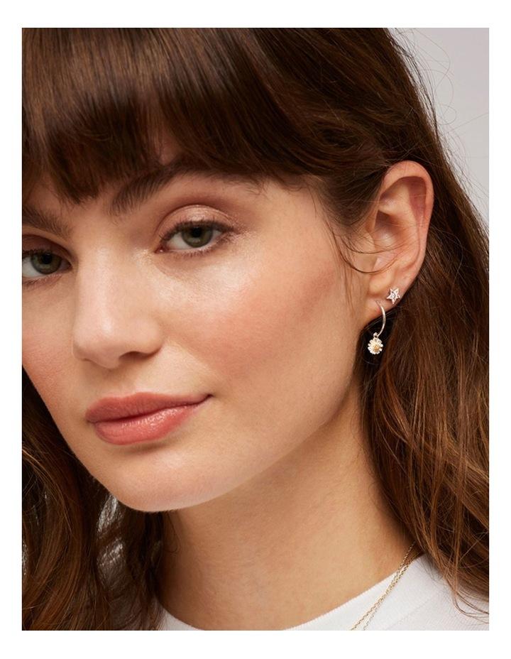 Mini Wildflower Hoop Drop Earrings image 2