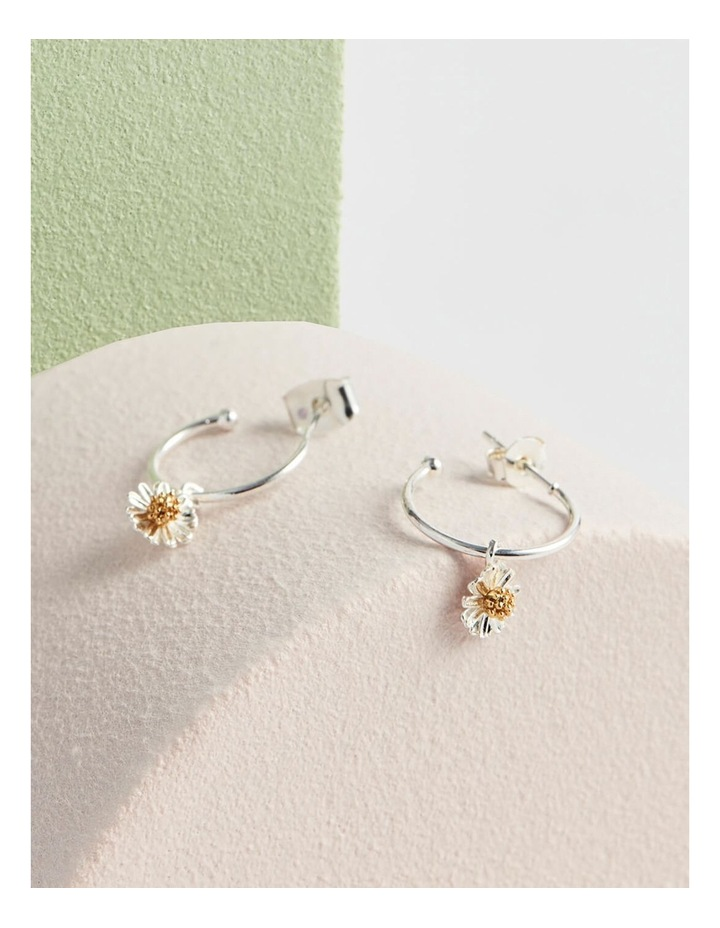Mini Wildflower Hoop Drop Earrings image 3