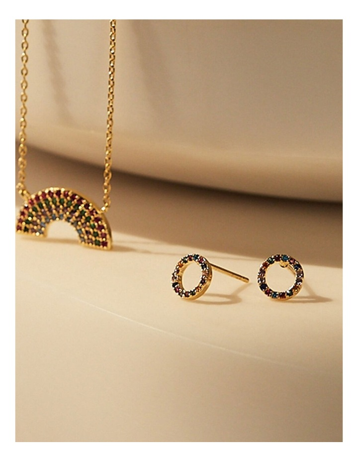 Multi CZ Circle Earrings image 2