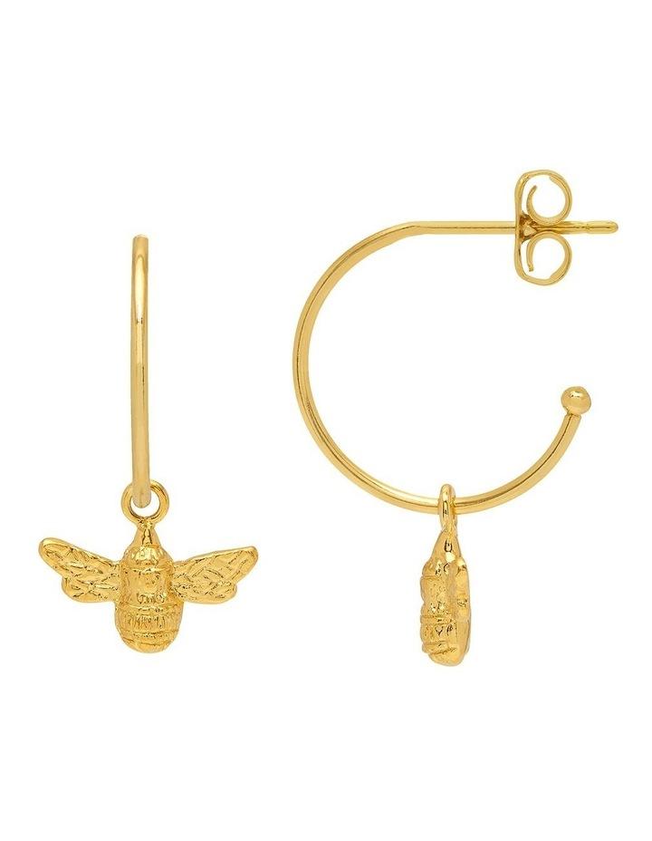 Bee Drop Hoop Earrings image 1