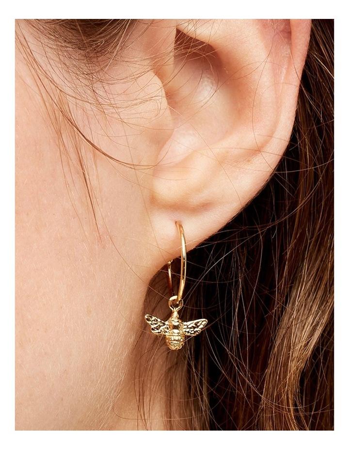 Bee Drop Hoop Earrings image 3