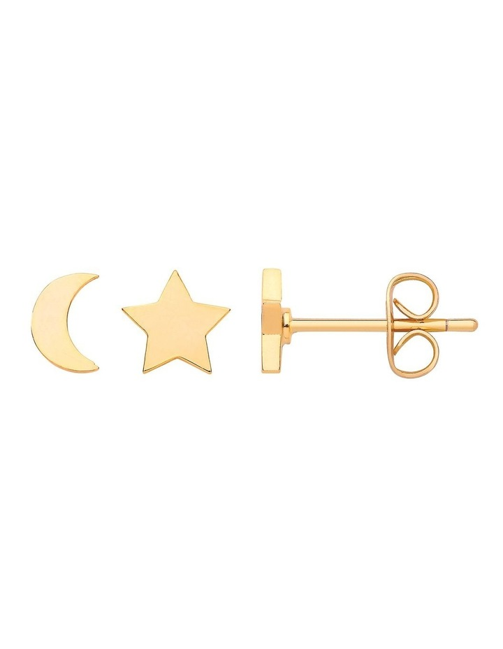 Mixed Moon And Star Earrings image 1