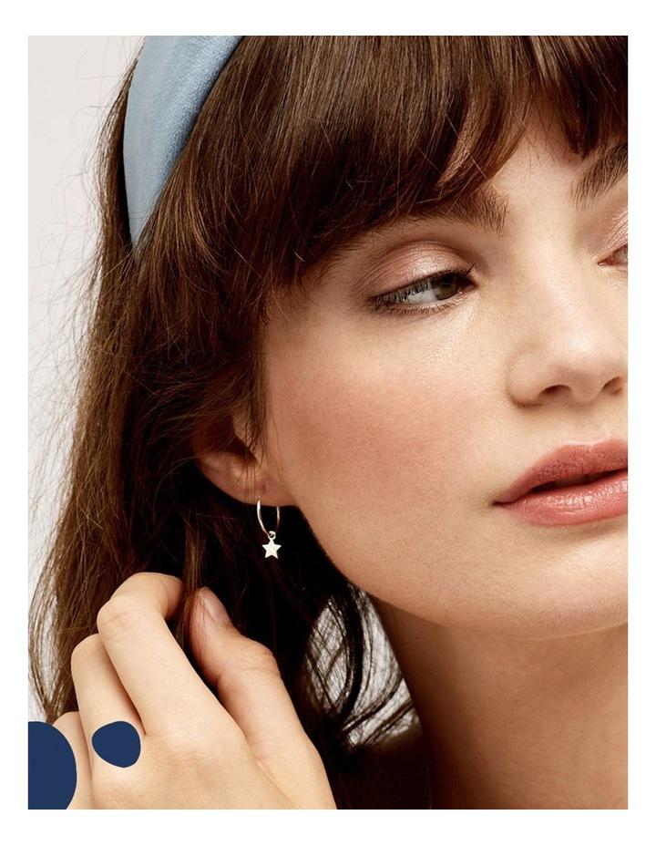 Star Drop Hoop Earrings image 2