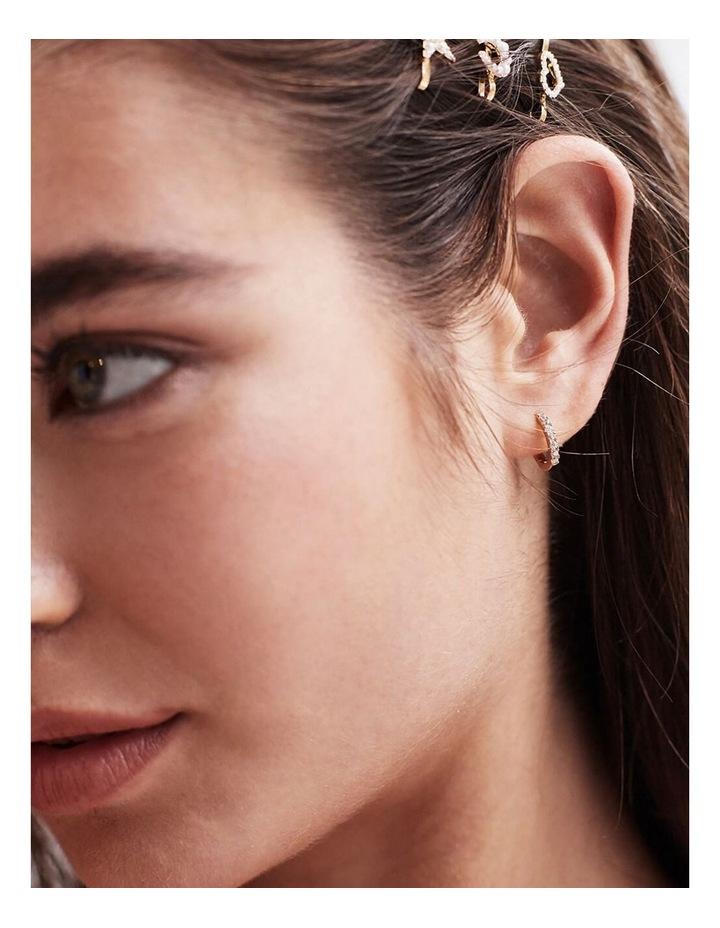 Pave Set Hoop Earrings image 2