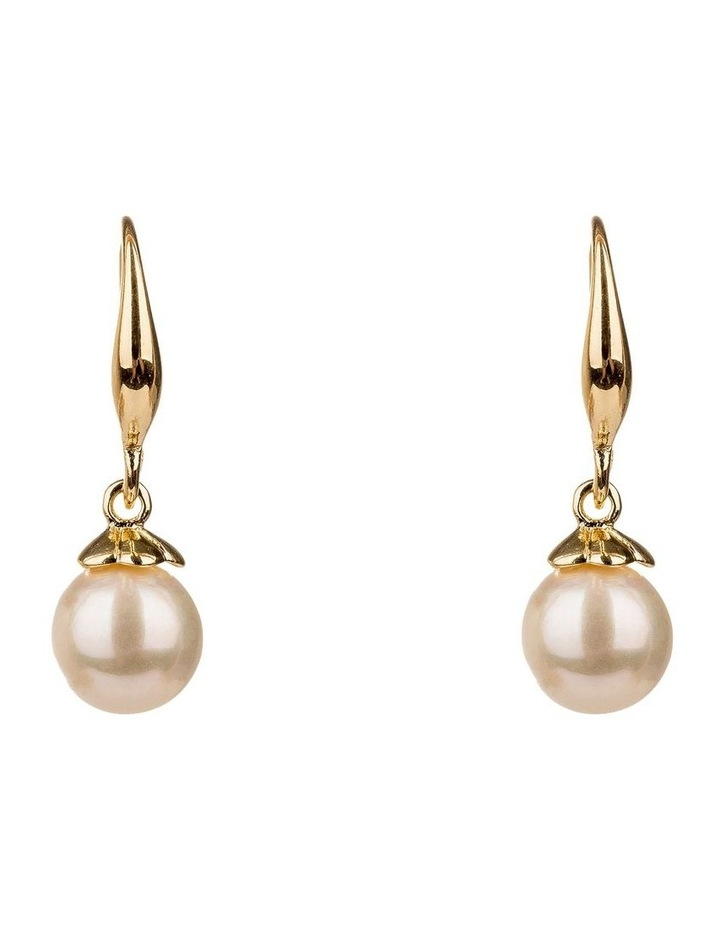 Drop Round Faux Pearl Earrings image 1