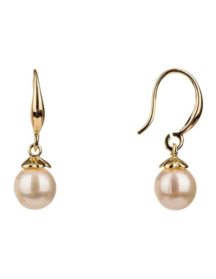 Drop Round Faux Pearl Earrings image 2