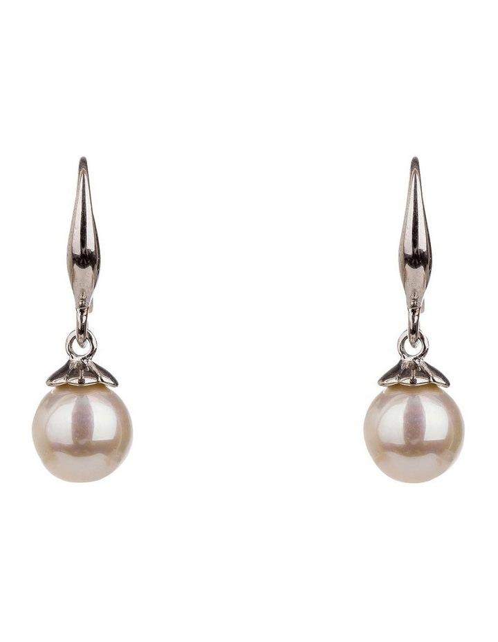 Drop Round Faux Pearl Earrings image 1