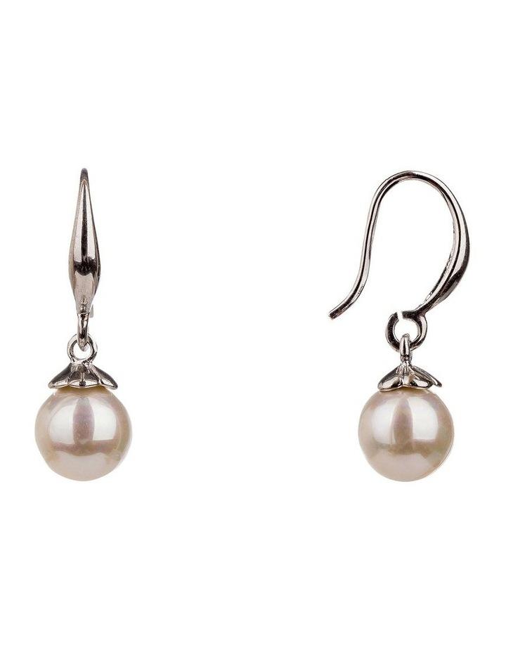 Drop Round Faux Pearl Earrings image 2