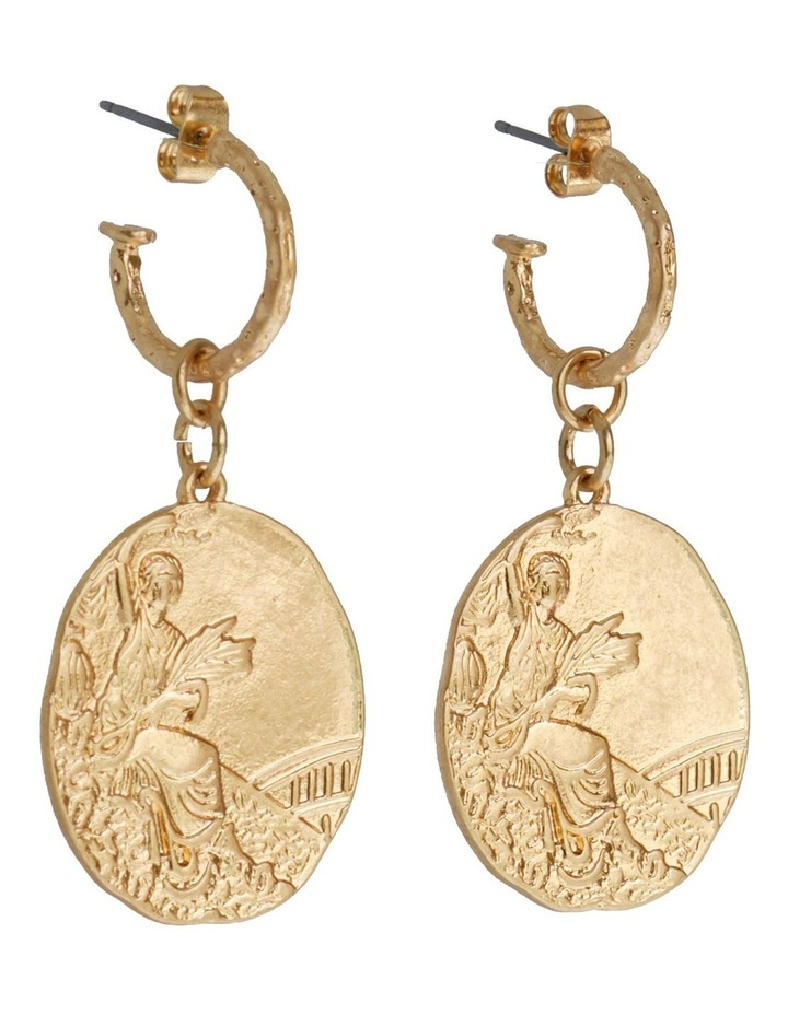 TALIA MINI COIN EARRING image 1