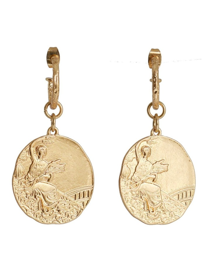 TALIA MINI COIN EARRING image 3