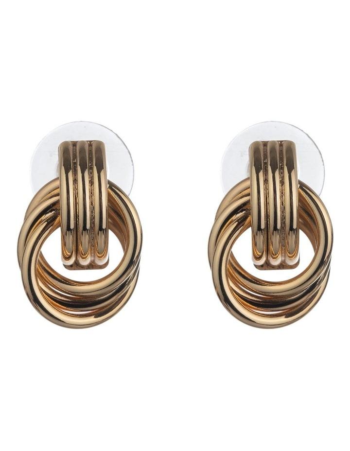 Multi Circle Gold Stud Earrings image 1