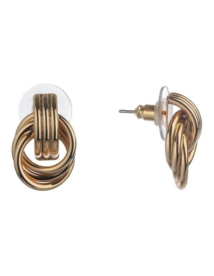 Multi Circle Gold Stud Earrings image 2