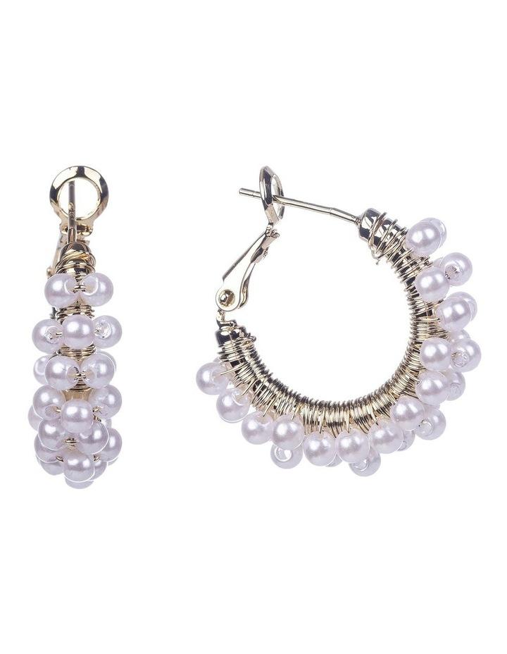 Pearl Wrap Hoop Earrings image 1