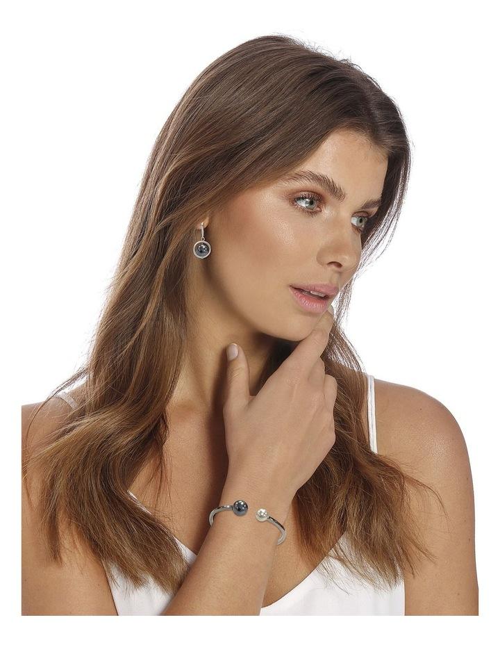 Pearl Ring Drop Grey Earrings image 2